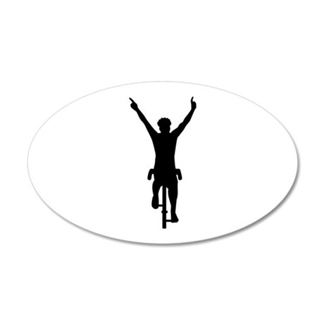 Cyclist winner 35x21 Oval Wall Decal