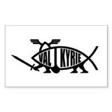 Valkyrie Fish Rectangle Decal
