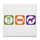 Eat Sleep Terrier Tile Coaster