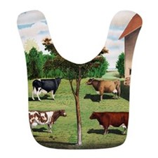 Vintage Cow Art Bib
