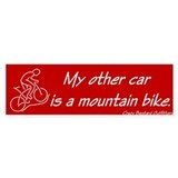 Mountain Biker's Bumper Car Sticker