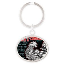 4-Commandments of the BEAST Oval Keychain