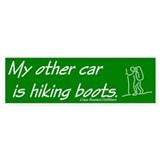 Hiking Bumper Bumper Sticker