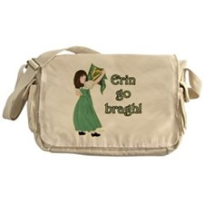 TR-Erin-Go-Bragh-with-gold Messenger Bag
