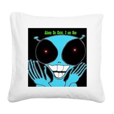 3-Alien copy Square Canvas Pillow