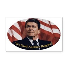 Reagan_Oval_5x3 Rectangle Car Magnet