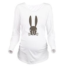 Rabbit Face Long Sleeve Maternity T-Shirt