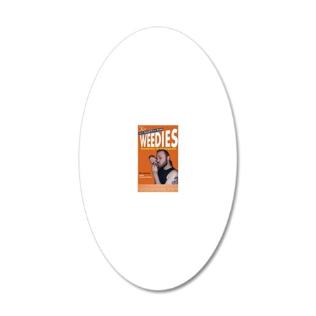 2-RectangleSticker 20x12 Oval Wall Decal