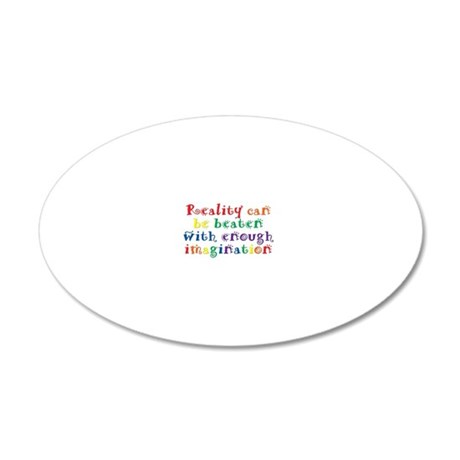 reality_btle1 20x12 Oval Wall Decal