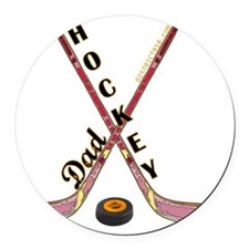 hockey_dad_2 Round Car Magnet