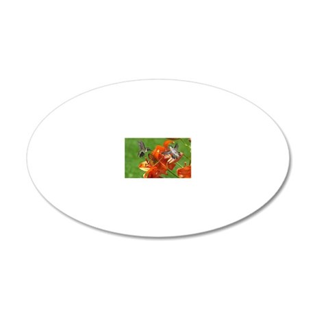 note card -front 20x12 Oval Wall Decal