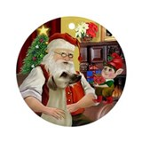 Santa's Sloughi Ornament (Round)