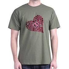 SKULL HEART VINTAGE T-Shirt