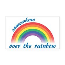 rainbow Rectangle Car Magnet
