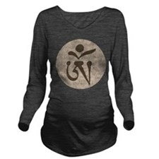 Tibetan Om Long Sleeve Maternity T-Shirt