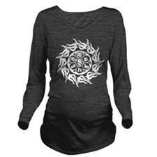 Tribal Om Mani Padme Hum Long Sleeve Maternity T-S