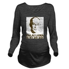 Dalai Lama Homeboy Long Sleeve Maternity T-Shirt