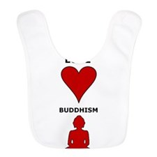Peace Love Buddhism Bib