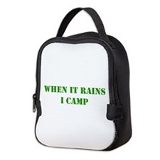 whenitrainsicamp.png Neoprene Lunch Bag