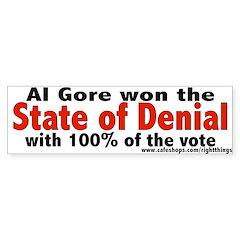 State of Denial Bumper Sticker