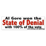State of Denial Bumper Sticker