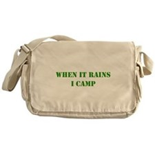 whenitrainsicamp.png Messenger Bag