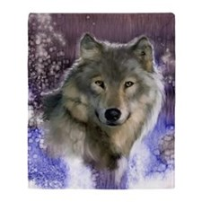 wolf 12x9 Throw Blanket