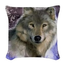 wolf 12x9 Woven Throw Pillow