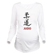 Judo Long Sleeve Maternity T-Shirt