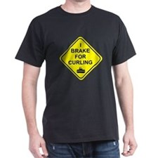 I Brake for Curling,  T-Shirt