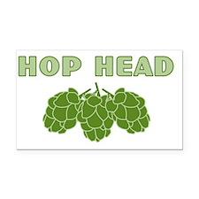 hophead Rectangle Car Magnet