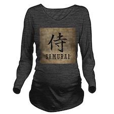Vintage Samurai Long Sleeve Maternity T-Shirt