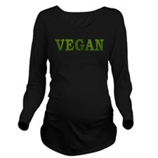 Vegan Long Sleeve Maternity T-Shirt