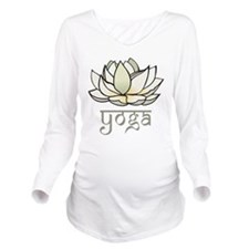 Lotus Yoga Long Sleeve Maternity T-Shirt