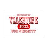 Valentine University Mini Poster Print