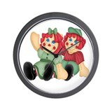 Raggedy Ann & Andy Doll's Wall Clock