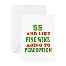 Funny 55 And Like Fine Wine Birthday Greeting Card