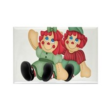 Raggedy Ann & Andy Doll's Rectangle Magnet (10 pac