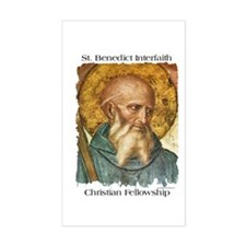 St. Benedict Rectangle Decal
