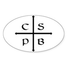 St. Benedict Cross Oval Decal