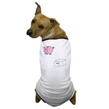 3-save a pig eat tofu 2 Dog T-Shirt