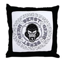 Beast Gear Throw Pillow