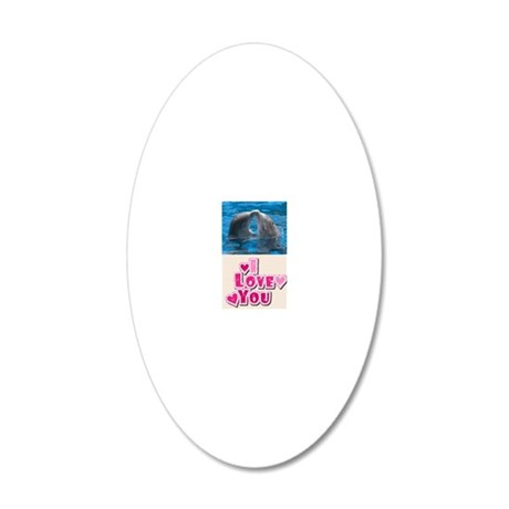 dolphins 20x12 Oval Wall Decal