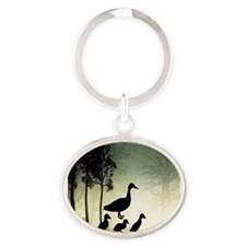 duck ducklings mom love a Keychains