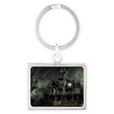 2-haunted_house_big Landscape Keychain