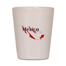 Mexico Diver Shot Glass