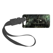 3-haunted_house_big Small Luggage Tag