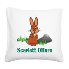 2-Scarlett O Hare Square Canvas Pillow