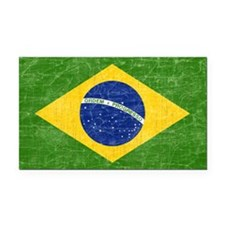 vintage-brazil-flag Rectangle Car Magnet
