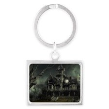 haunted_house_big Landscape Keychain